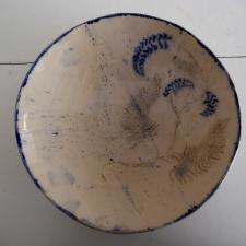 Blau bemalte Keramik